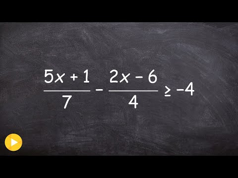 Solving a linear inequality with fractions