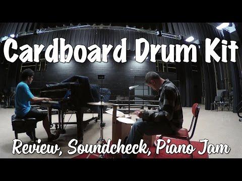 Cardboard Drum Kit Review, Piano Jam, Soundcheck  (Obilab)