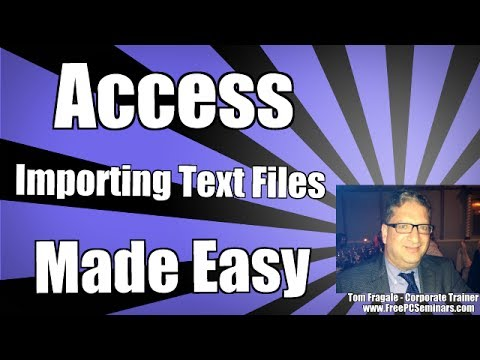 How to import a text file into Access - Access 2010 tutorial CSV file Access 2007 Access 2013 2016