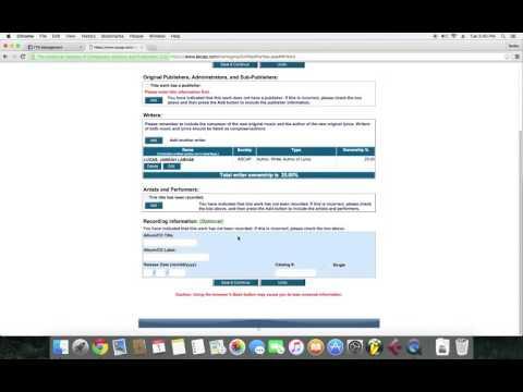 Works Registration ASCAP