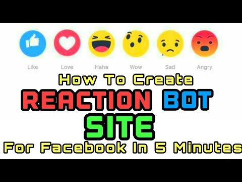 How to Create Personal Reaction Bot Site in 5 minutes !!