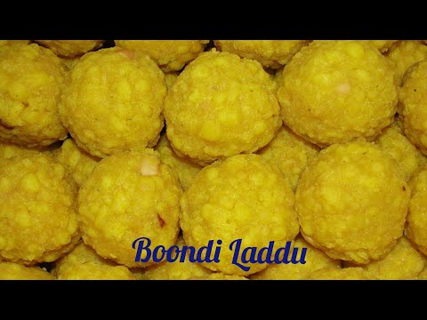 How to make Boondi Laddu l Bundi Laddoo l Besan Laddu Preparation in Telugu