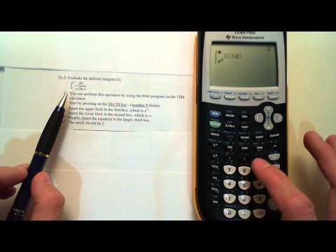 Calculus I Evaluating the Definite Integrals Ex.1