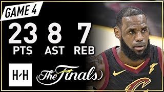 Lebron James Full Game 4 Highlights Warriors Vs Cavaliers 2018 Nba Finals - 23 Pts, 8 Ast, 7 Reb!