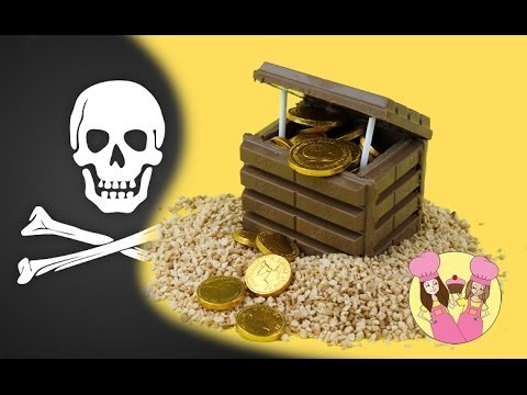 Make a PIRATE TREASURE CHEST using Kit-Kats - Cake topper Tutorial by Charli's crafty kitchen