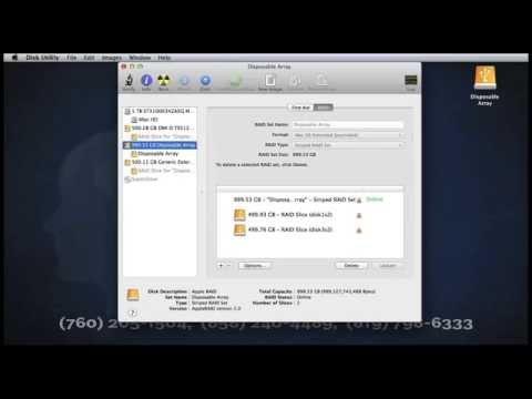 Delete Apple RAID Array Video