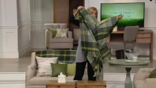 Download Foxford Woollen Mills Michael Collins Throw Blanket on QVC Video