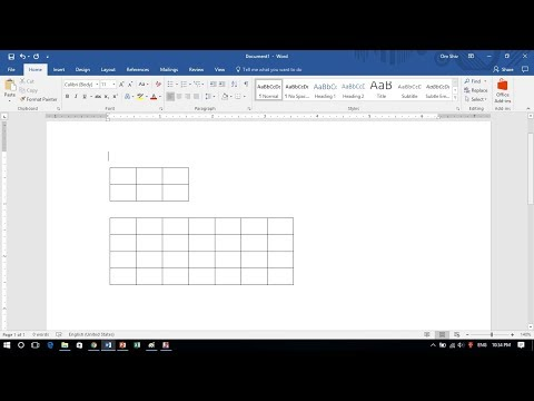 How to Draw a Quick Table in Word
