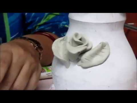 Flower making with clay (Part-I)