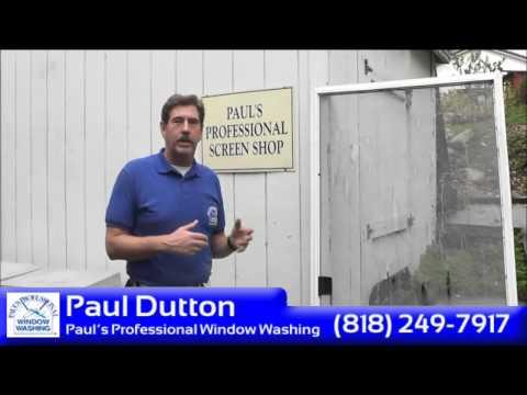 Paul Dutton shows how to repair a screen door