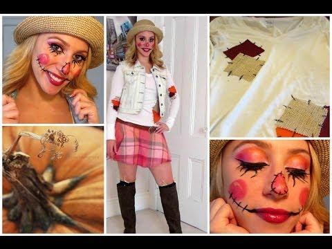 DIY Sweet Scarecrow Halloween Costume!
