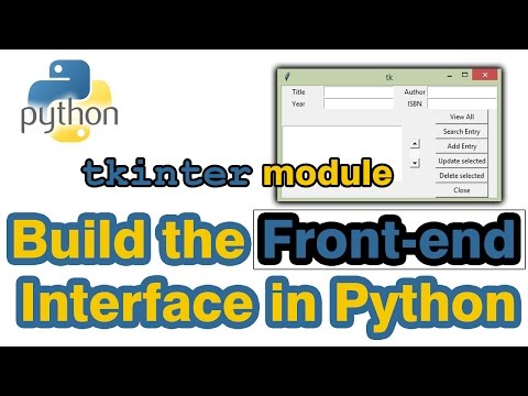 Build Python Graphic User Interface (GUI) by Tkinter