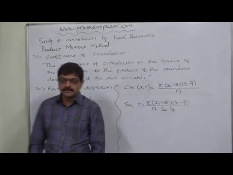 Linear Correlation 12   Meaning of Karl Pearson's Coefficient of Correlation