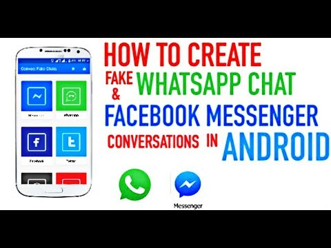 How to create Fake chat of Whatsapp and Facebook Messenger