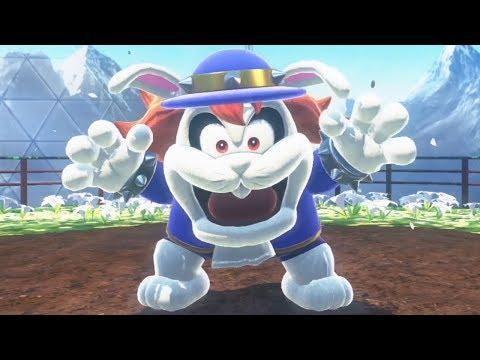 Super Mario Odyssey - Walkthrough Part 5 - Wooded Kingdom All Moons & Coins