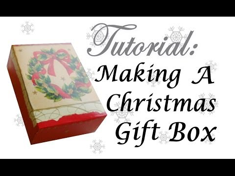 How To Make A Gift Box From A Christmas Card