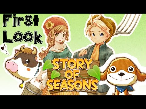Story of Seasons First Look Gameplay Character Customization, Intro Story!
