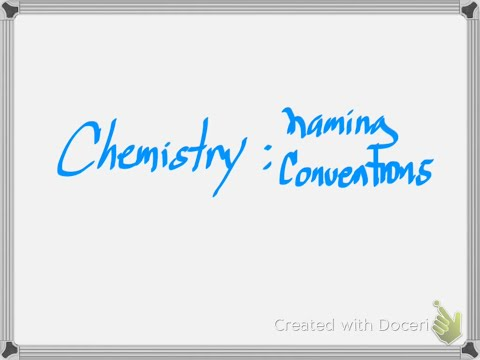 Chemistry: How to Name Ionic and Covalent Molecular Compounds and Simple Acids