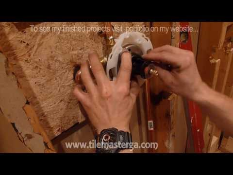 Part (2) How to add second valve to shower or dual sink - installing dual shower heads
