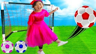 The Soccer Song (Football Song) | Toys and Colors Emma Pretend Play Nursery Rhymes & Kids Songs