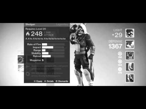 Destiny   Full       29  Level Armor Loadout Destiny Guns Exotic