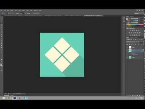 Flat design icon tutorial [Adobe Photoshop CS6]
