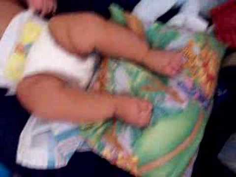 Baby Issaus kicking the living crap out of his pillow