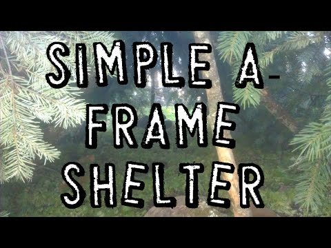 How To Build A Simple A-Frame Survival Shelter (Forest Environment)