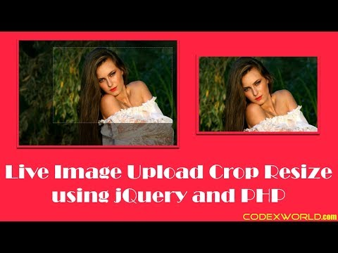 Live Image Upload and Crop using jQuery and PHP