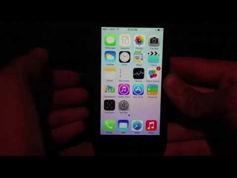 iOS 7 Initial Setup and Walkthrough