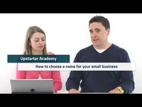 How to choose a name for your Small Business: Upstarter Academy Facebook LIve