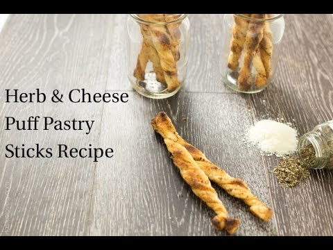 Herb and Cheese Puff Pastry Sticks Recipe