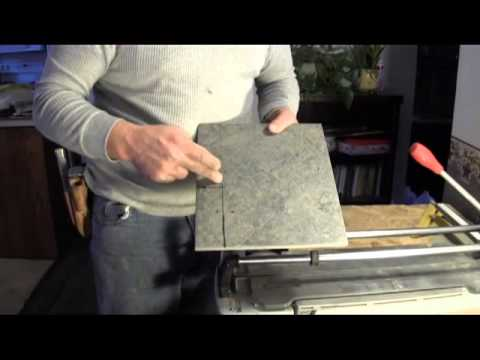 How To Cut Porcelain Tile-using a tile cutter