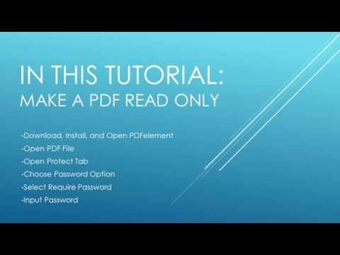 How to Make a PDF Read Only to Protect It