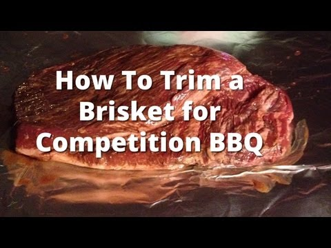 Trimming a Brisket for Competition BBQ - How To Trim a Beef Brisket