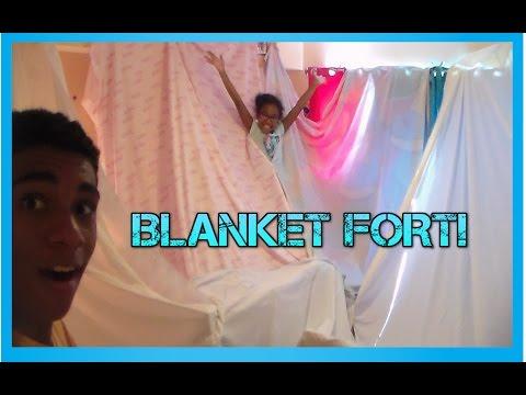 Building A Blanket Fort!!