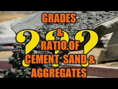 Grade of Concrete and its Cement, Sand & Aggregate Ratio || Civil facts