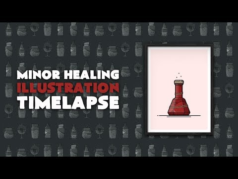 Potion of Minor Healing - Skyrim Illustration Time-lapse