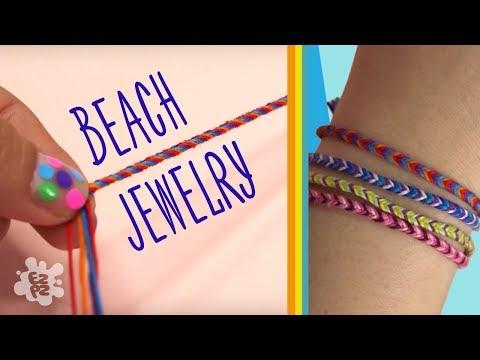 BEACH JEWELRY: HOW TO MAKE CRAFT CORD BRACELETS - EZPZ Ideas