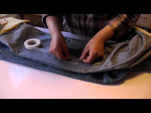 How to repair torn jeans.  Quick repairs. By Jo's StitchNgo.