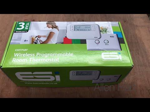 ESI Wireless Programmable Room Thermostat Boiler Plus Control ESRTP4RF