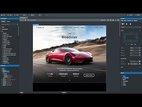 Creating Tesla's Website in Bootstrap Studio 4 (Tutorial)