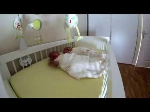Trying to put twins to sleep