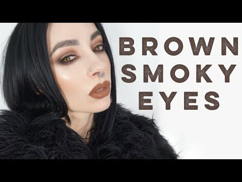 Brown Smoky Eyes Tutorial | Kat Von D Shade & Light Eye