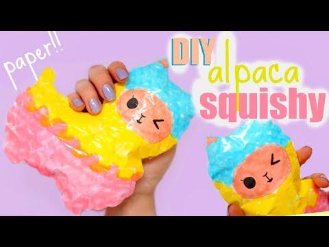 DIY ALPACA SQUISHY   how to make a squishy without foam #13