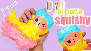 Download DIY ALPACA SQUISHY | how to make a squishy without foam #13 Video