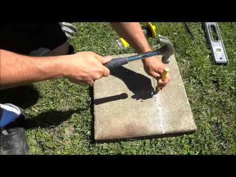 How To Split A Stone Paver With A Chisel
