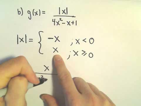Horizontal Asymptotes Involving Absolute Value