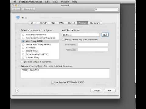 Mac OS X HTTP Proxy Configuration