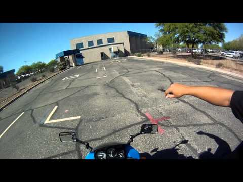 motorcycle license test on ninja 250